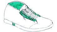 dessin de chaussure enfant lacage rigolo