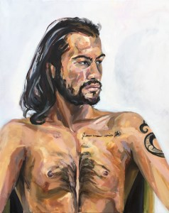 oil painting portrait of LC, showing face and upper body.