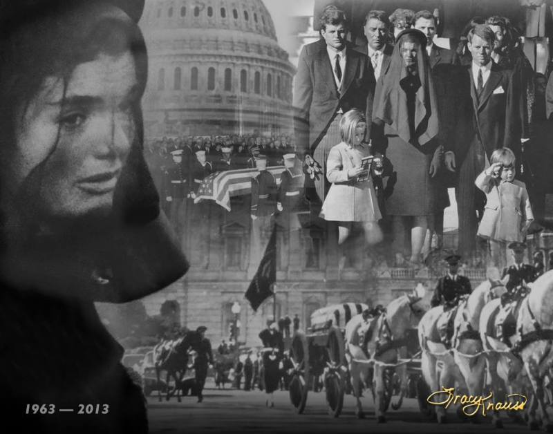 Knauss JFK funeral collage
