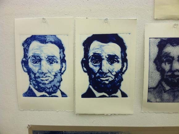 Abe Lincoln Monotype | Claire Dunaway Studios