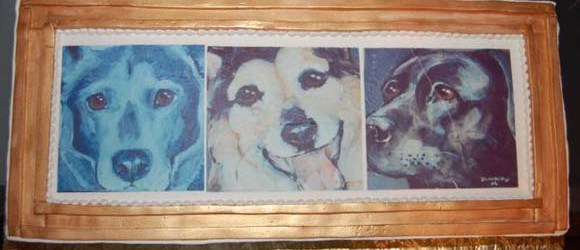 Dog Commission Cake   Claire Dunaway Studios