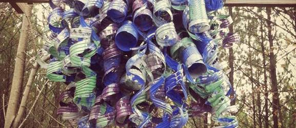 Chihuly Recycled Art Sculpture