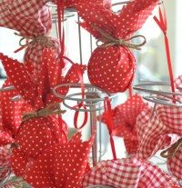 Fabric baubles