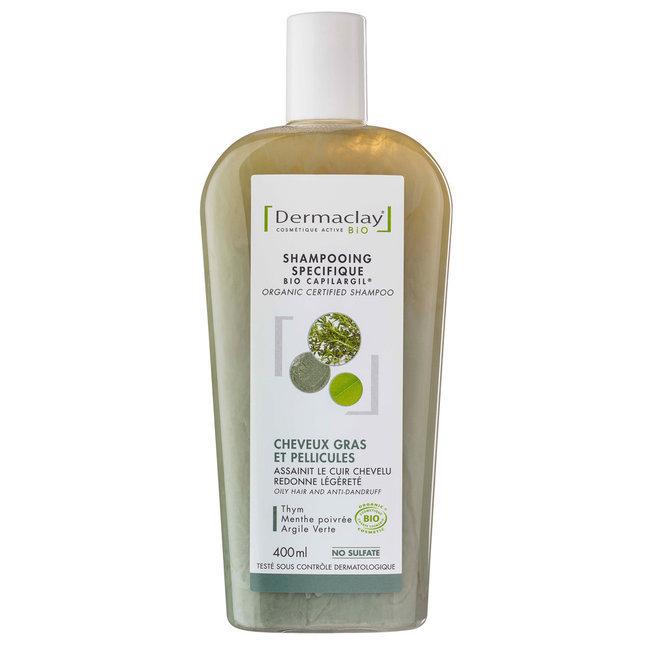 Shampoing Bio Capilargil Cheveux gras & Pellicules Argile verte 400ml