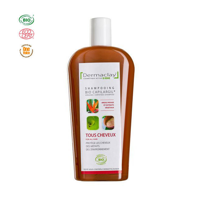 Shampoing Bio Capilargil Anti-pollution Argile rouge 400ml