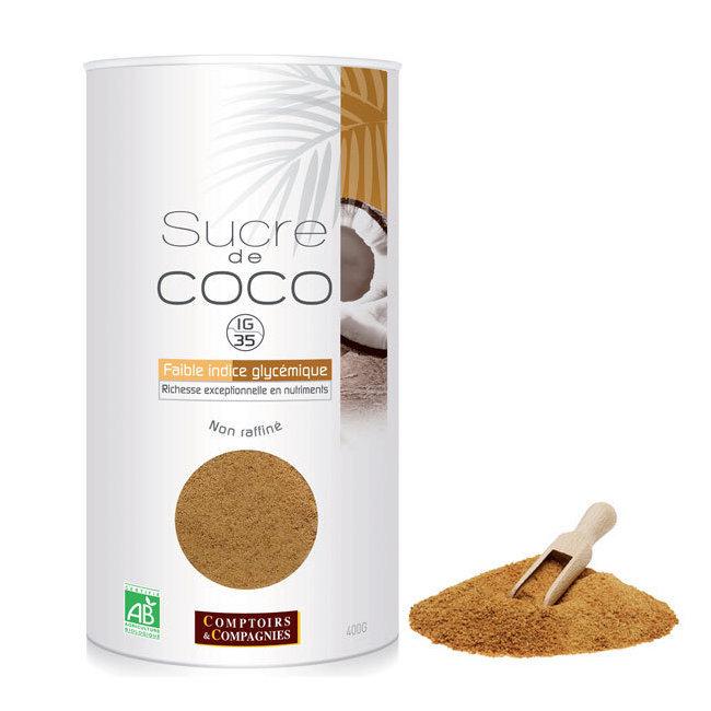 Sucre de coco bio - Boîte rechargeable 400g