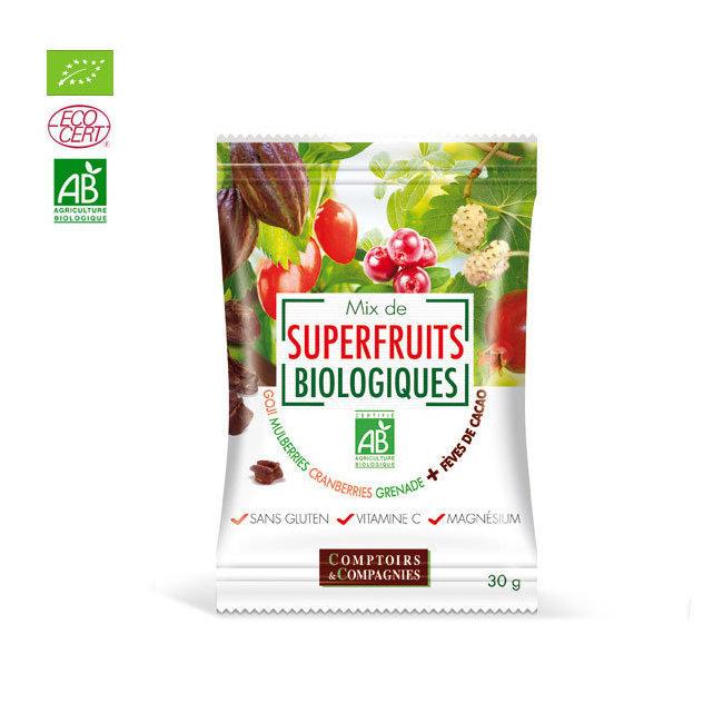 Mix Superfruits bio et éclats de fèves de cacao torréfiées 30g