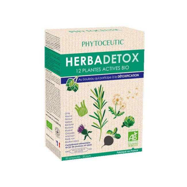 Herbadetox bio aux 12 plantes actives - 20 ampoules