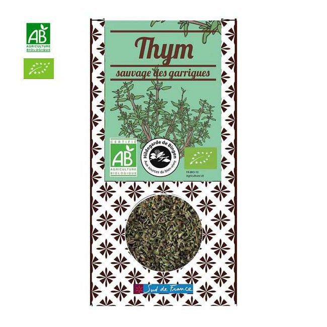 Thym bio sauvage des garrigues - Boîte de 25g