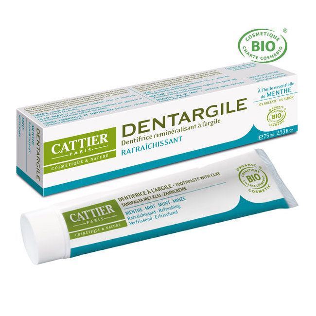Dentargile Menthe - Dentifrice bio rafraîchissant 75ml