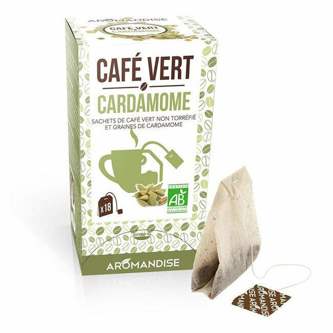 Café vert Cardamome bio 20 sachets