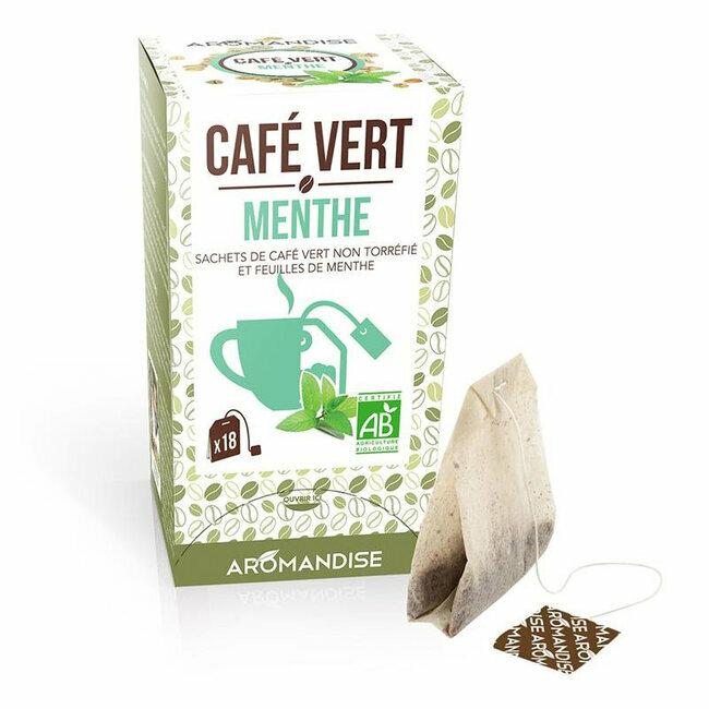 Café vert Menthe bio 20 sachets