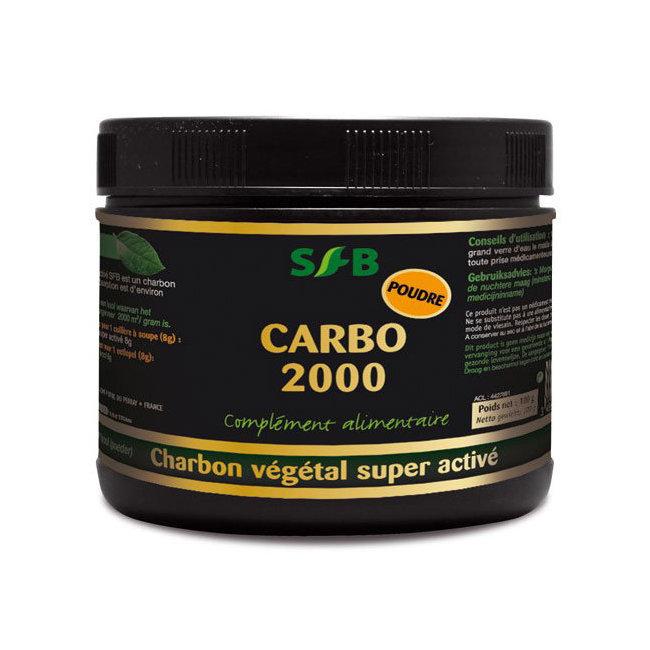 Carbo 2000 - Charbon végétal super activé en poudre - pot 100 g