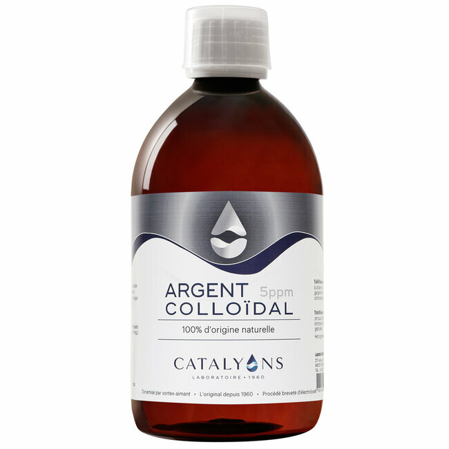 Argent Colloïdal 5 ppm - Antibactérien - Flacon 500 ml