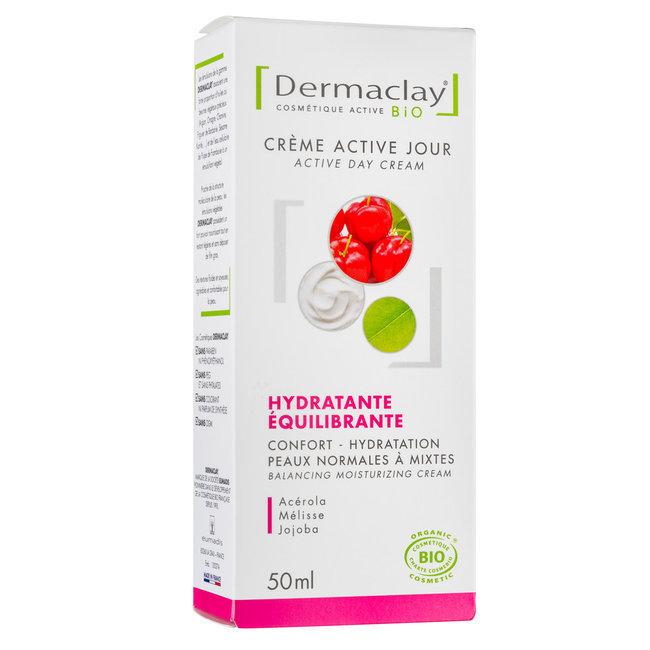 Crème active jour bio Hydratante équilibrante Peaux mixtes 50ml