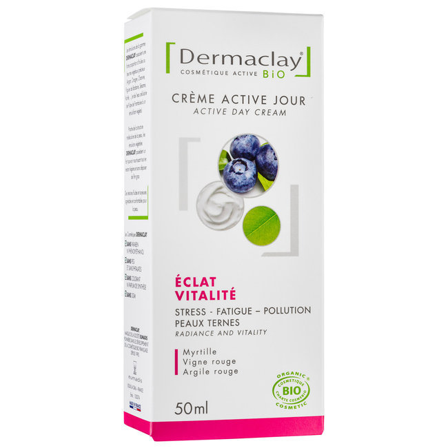 Crème active jour bio Eclat Vitalité Teint terne 50ml