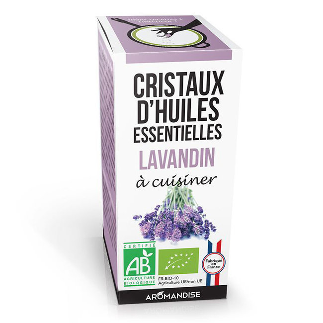 Cristaux d'huiles essentielles Lavandin bio 20g