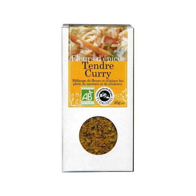 Fleurs d'épices bio Tendre Curry pour la cuisine 40g