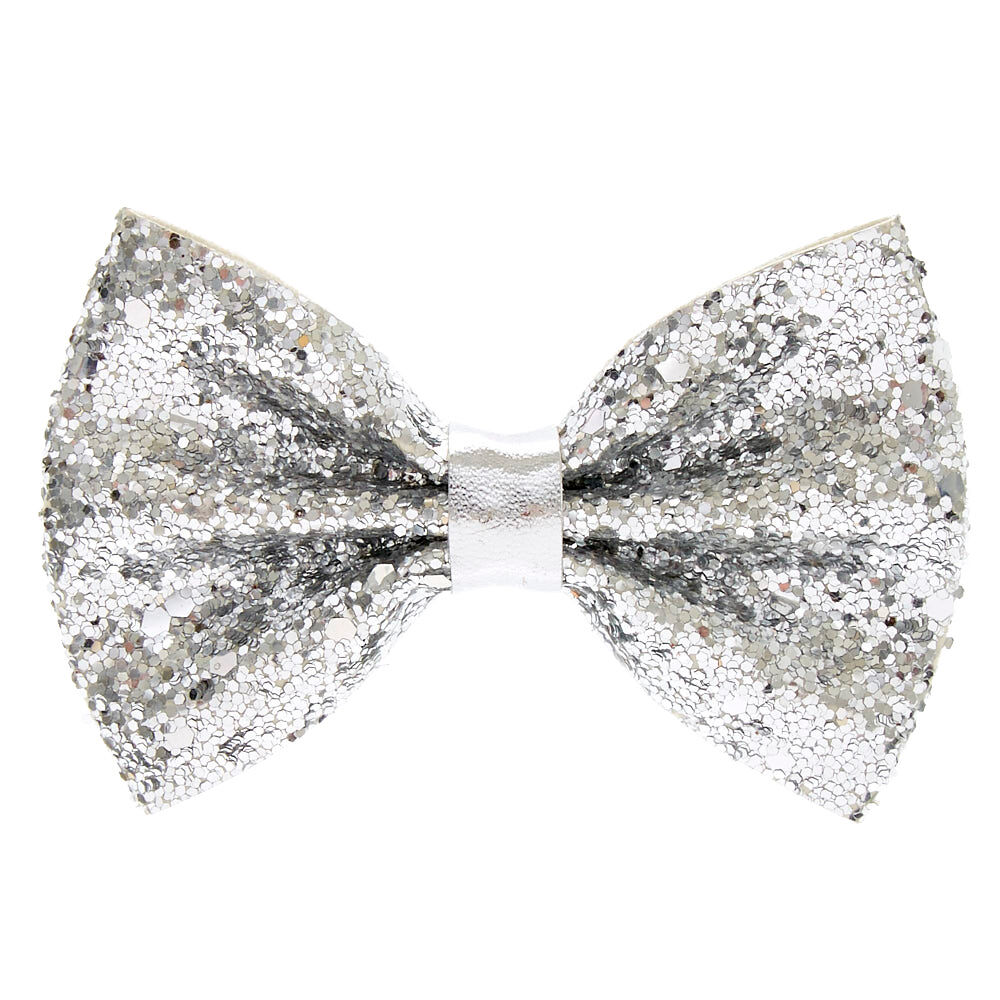 mini cake glitter hair bow clip