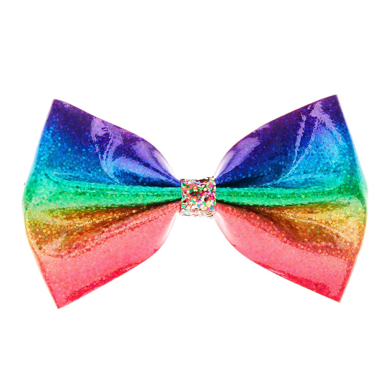 rainbow glitter hair bow claire's