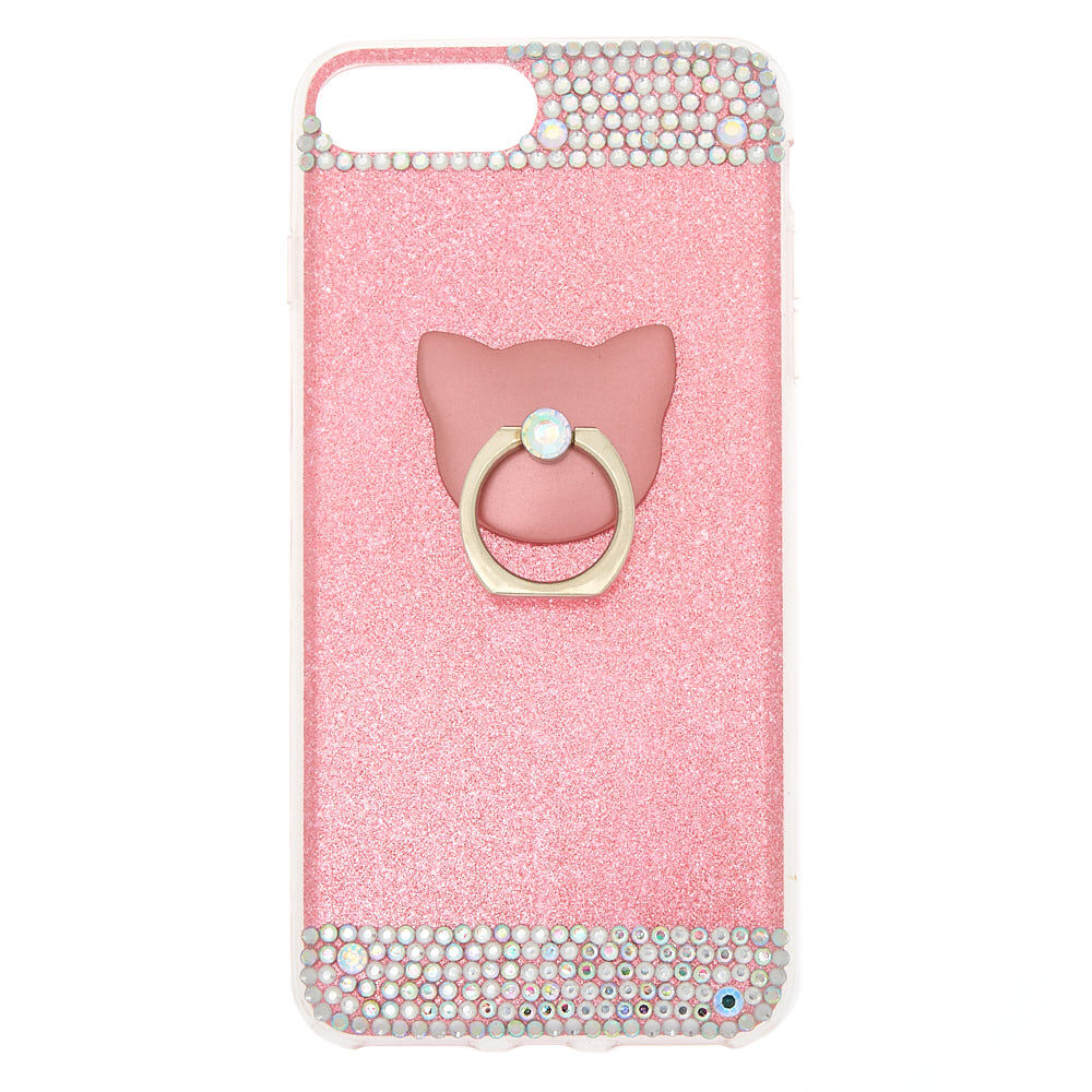 christmas chair back covers ireland oversized swivel cover phone cases claire s cat glam ring stand case pink