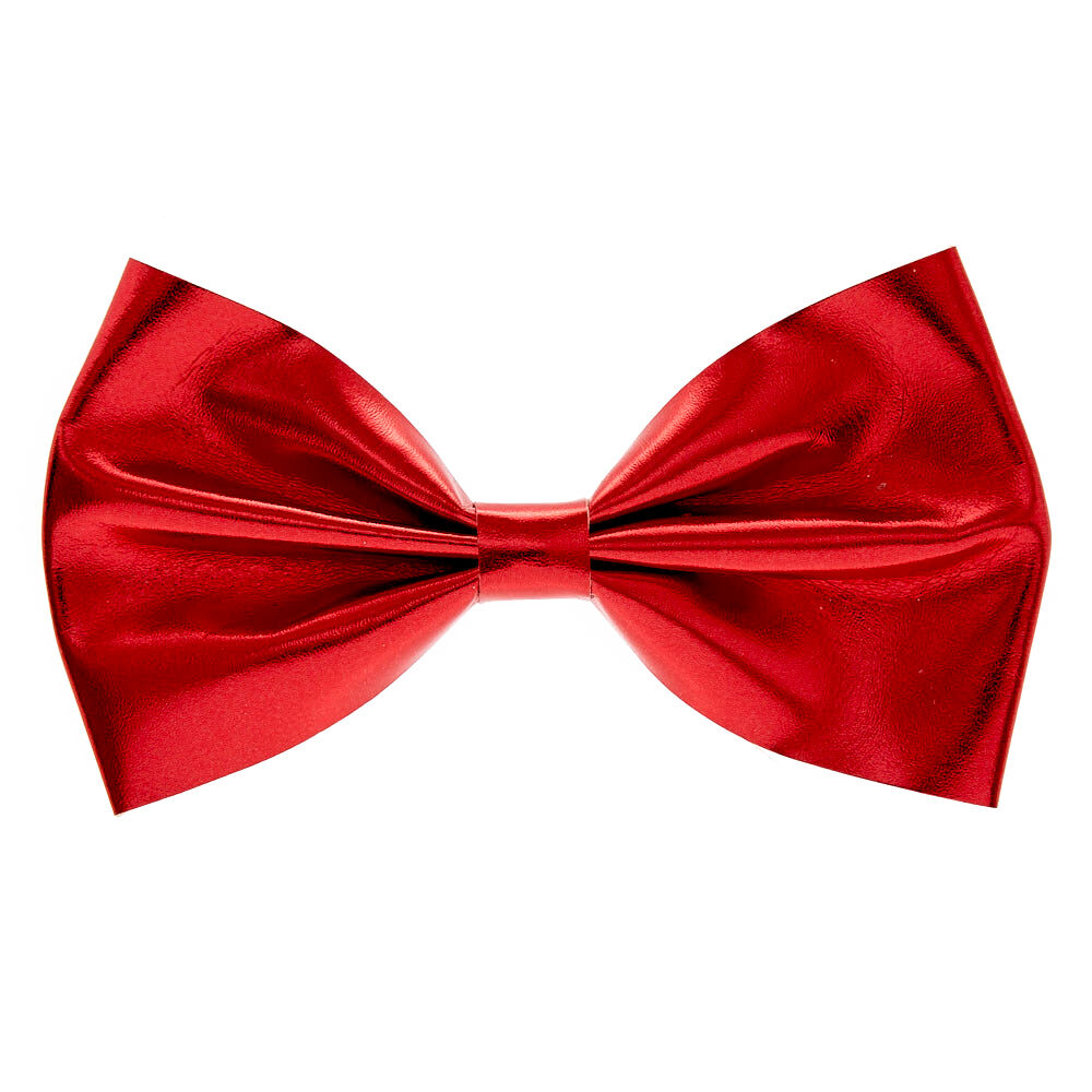 red metallic bow hair clip claire's