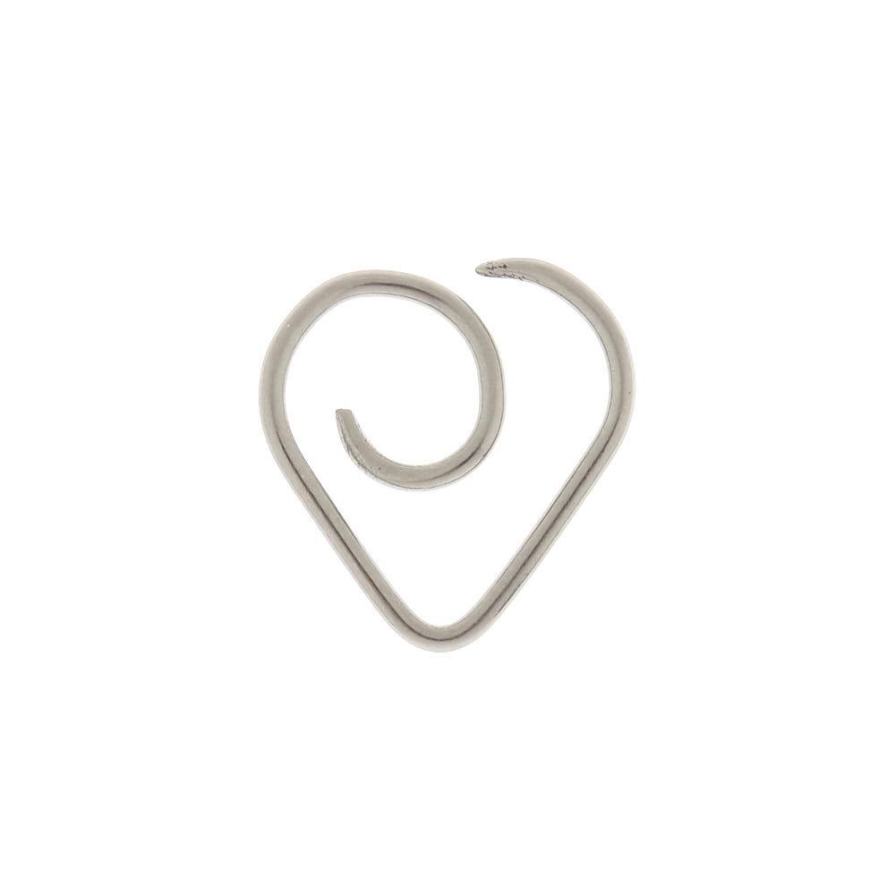 titanium 18g wire heart