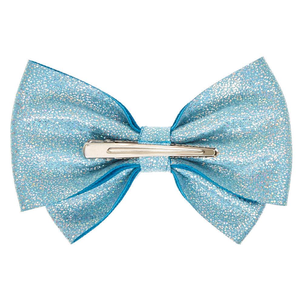 soft glitter hair bow clip - baby