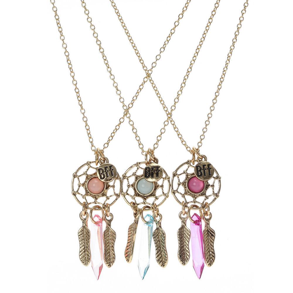 Glass Stone Dreamcatcher Best Friend Necklaces Claires FR
