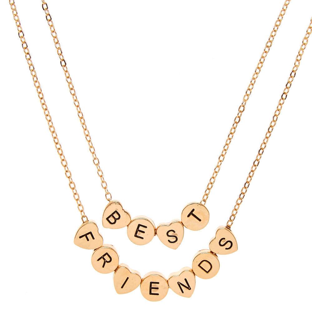 best friends letter charm