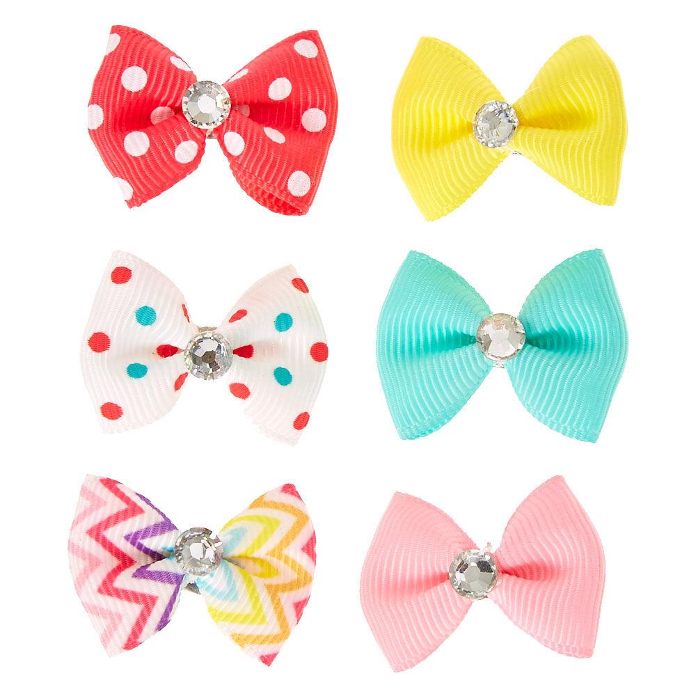 claire's club mini bow hair clips
