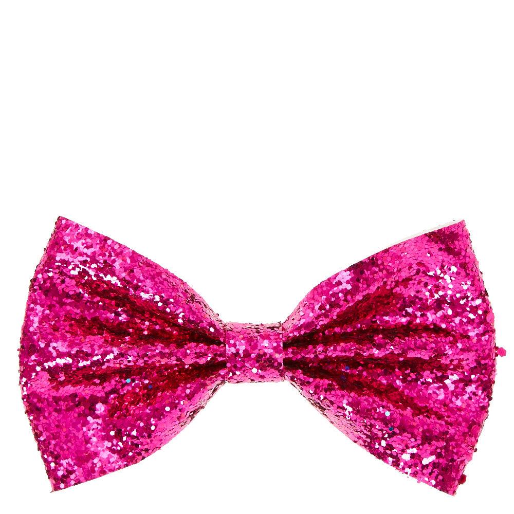sequin glitter hair bow clip