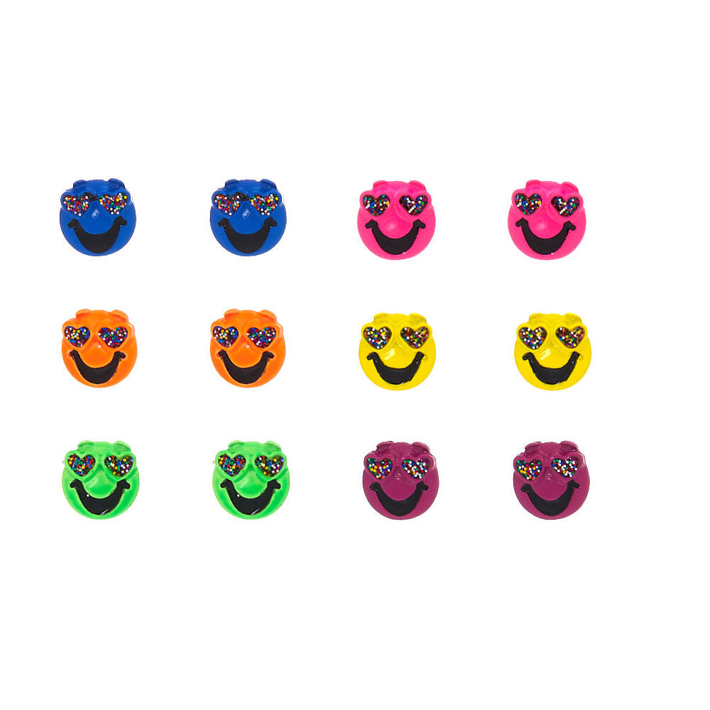 neon heart eyes emoji