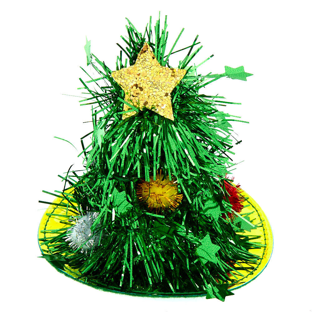 christmas tree fascinator hair