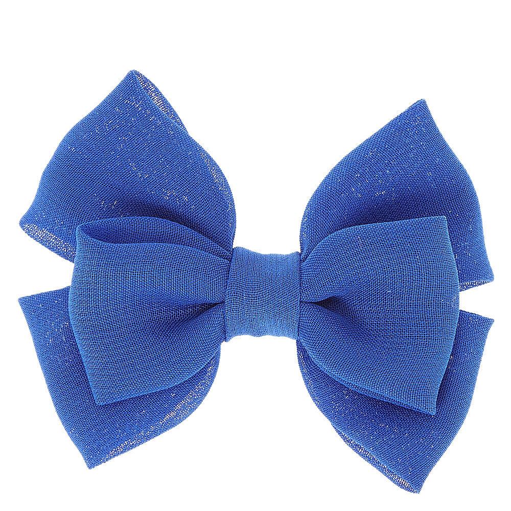 royal blue mini hair bow clip