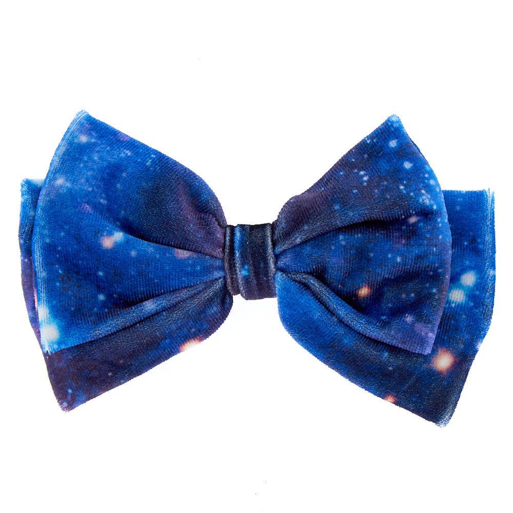 galaxy hair bow - blue claire's