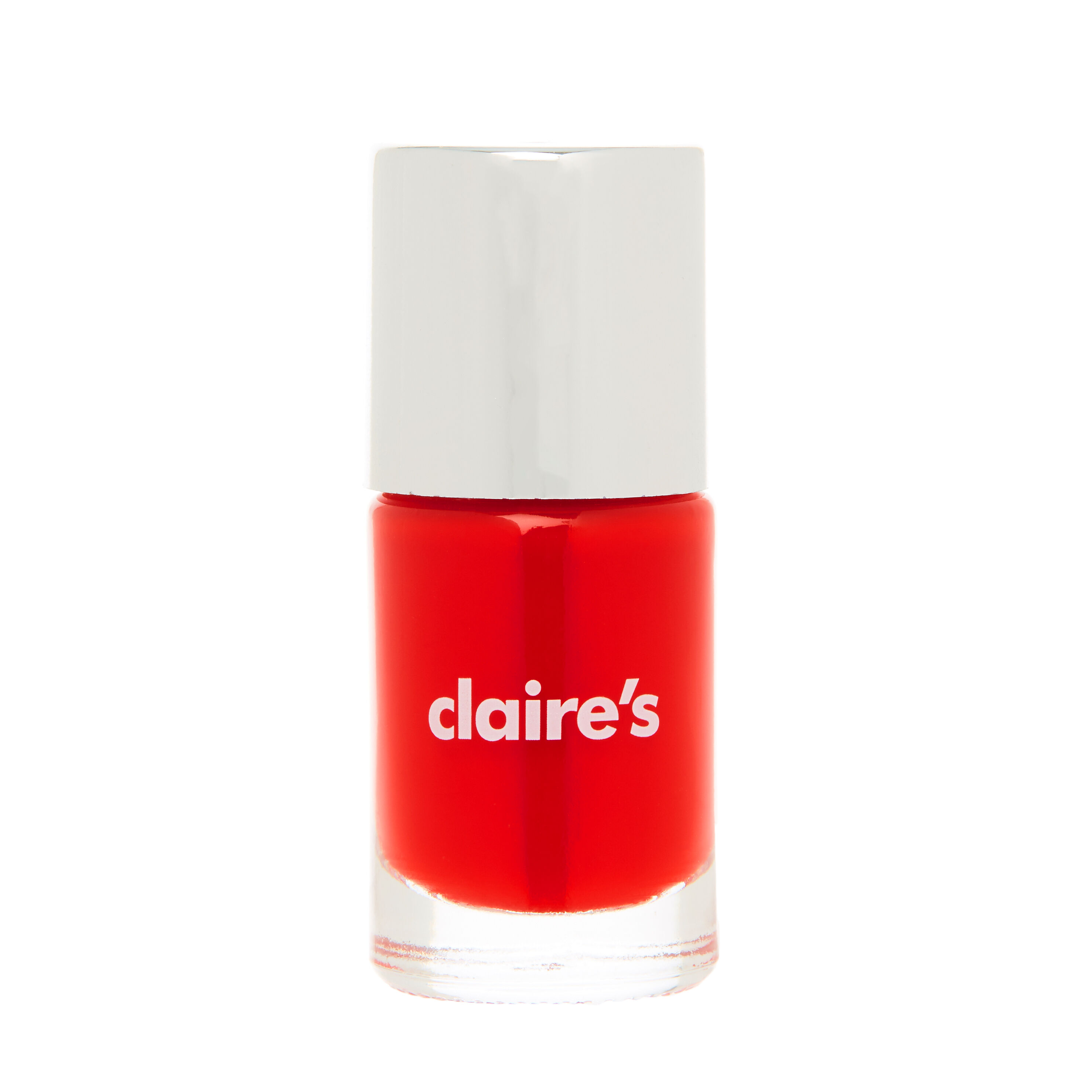 bright red nail polish claire's