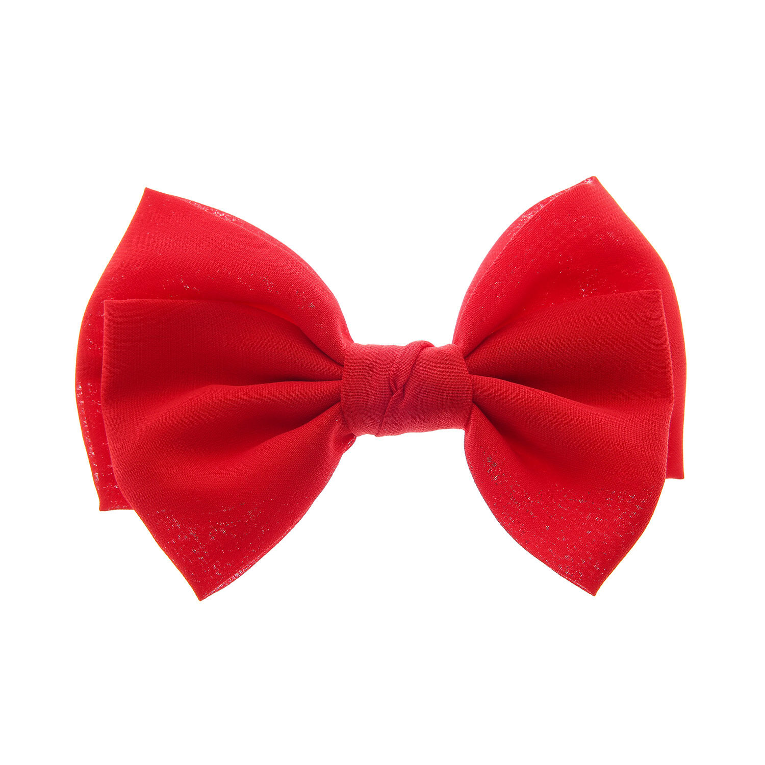 large floppy hair bow clip - red