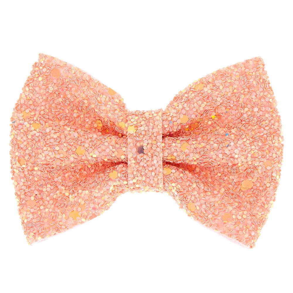 mini cake glitter hair bow clip