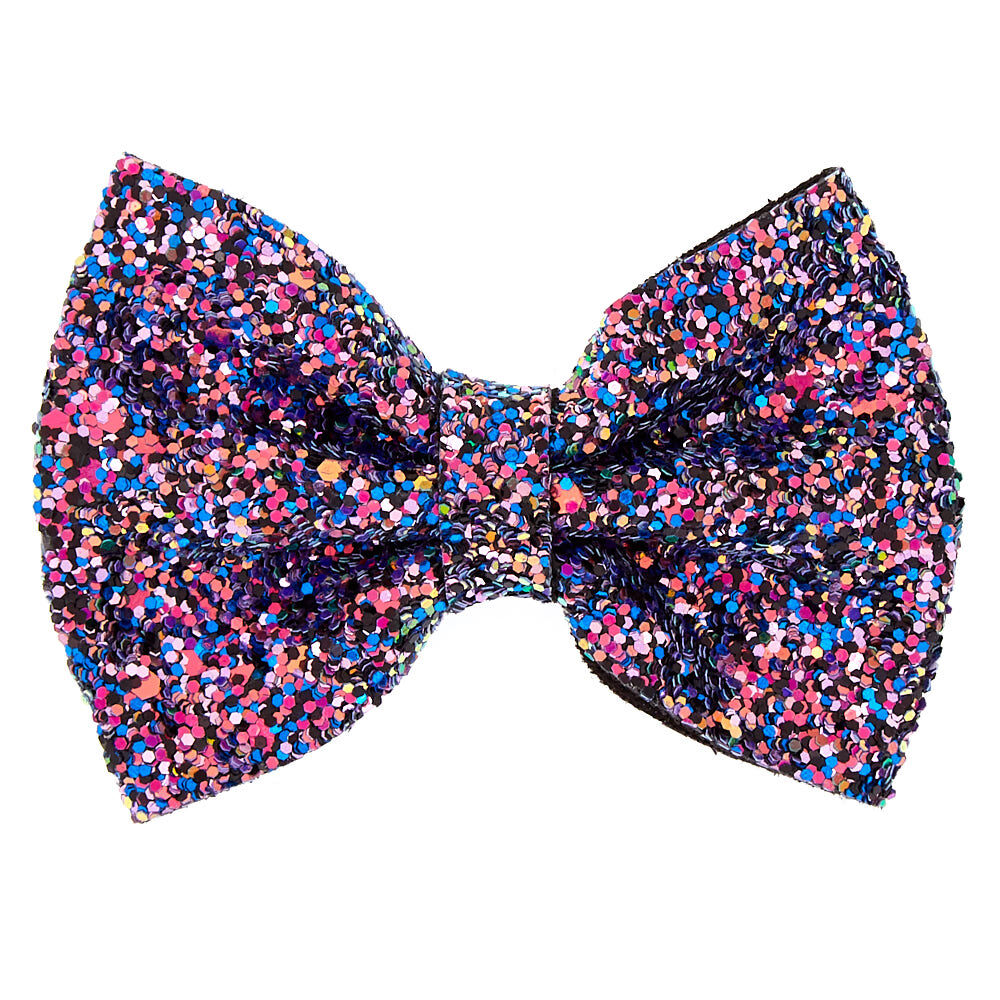 space glitter hair bow clip claire's