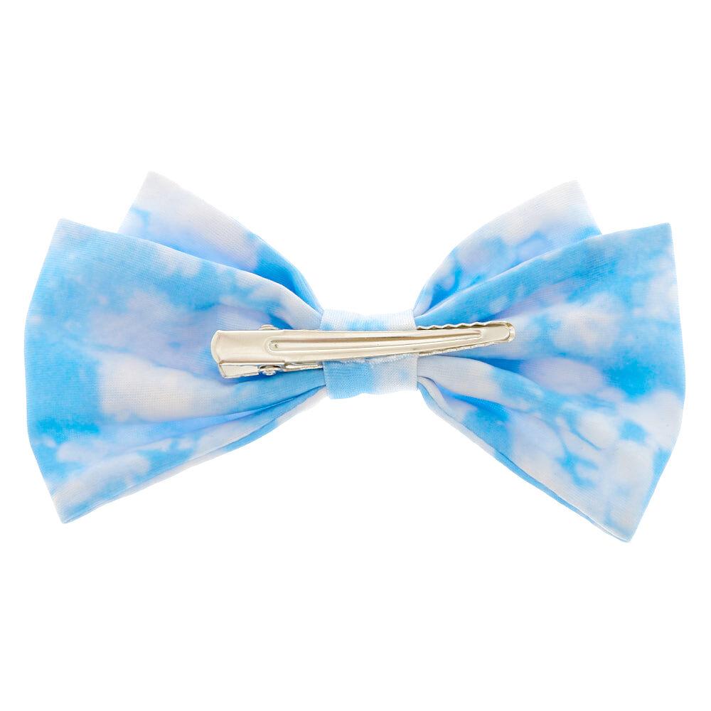 baby blue tie dye floppy hair bow
