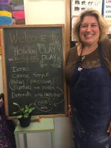 Holiday Clay Play w Becca