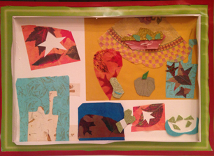 """Painting with scissors""- Matisse Cut out inspired Food Art collage"