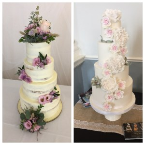 Fresh flower cake and sugar flower cake