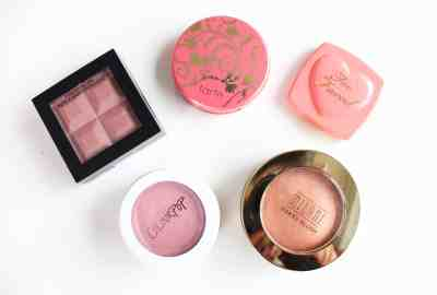 top five blushes of drugstore and high end