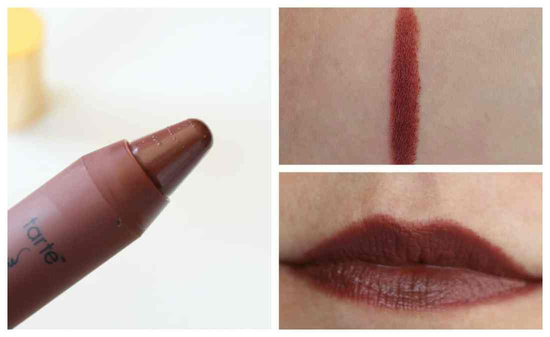 Tarte lippie lingerie matte tint in Revealed swatch