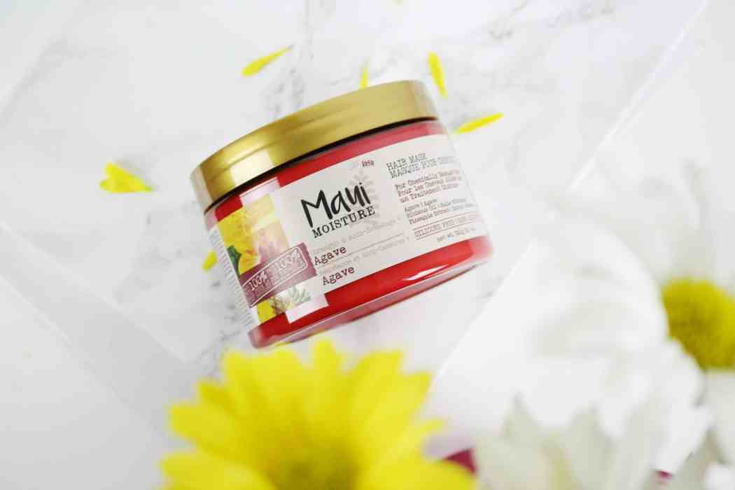 maui moisture strenght and anti breakage agave hair mask jar packaging