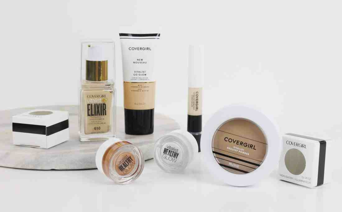 Covergirl vitalist healthy concealer and powder and glow highlighters
