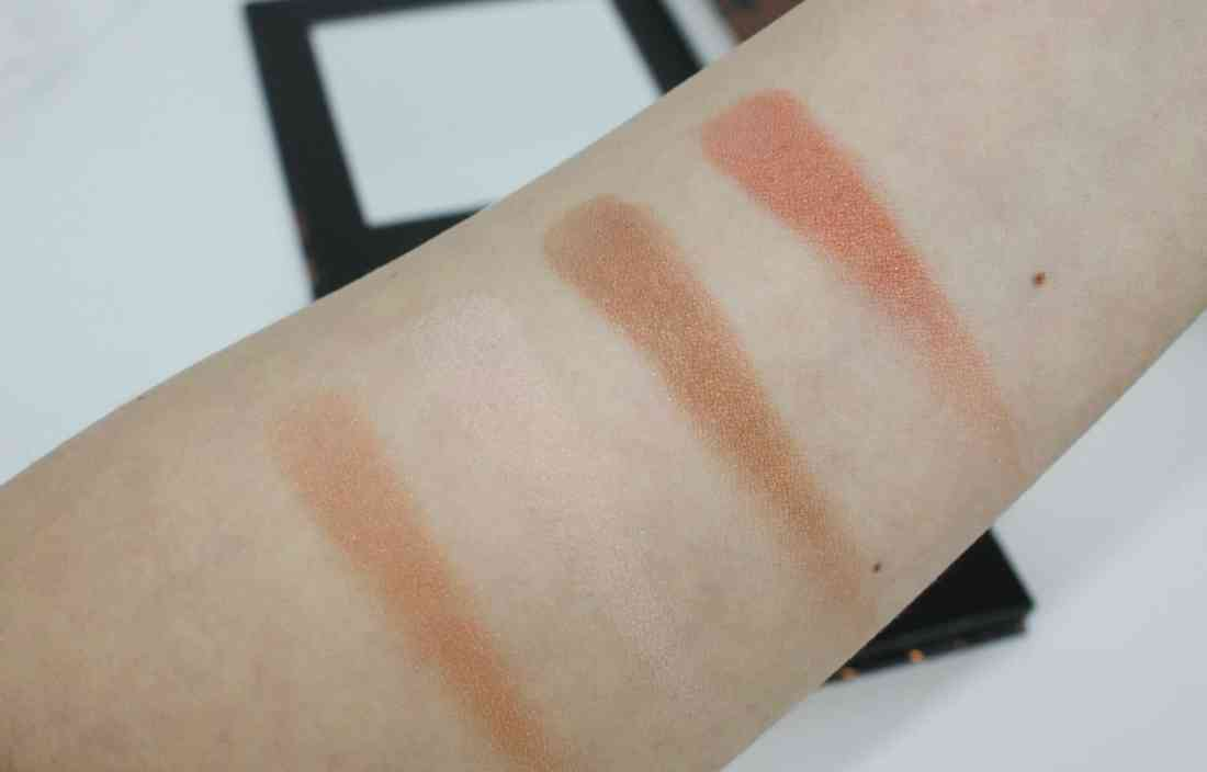 studio makeup on the go bronzing palette swatch