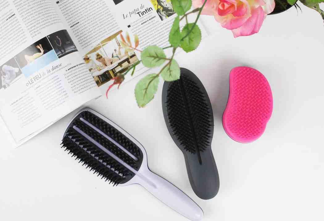 tangle teezer detangling brush, blow styling smoothing tool, professional finishing hairbrush